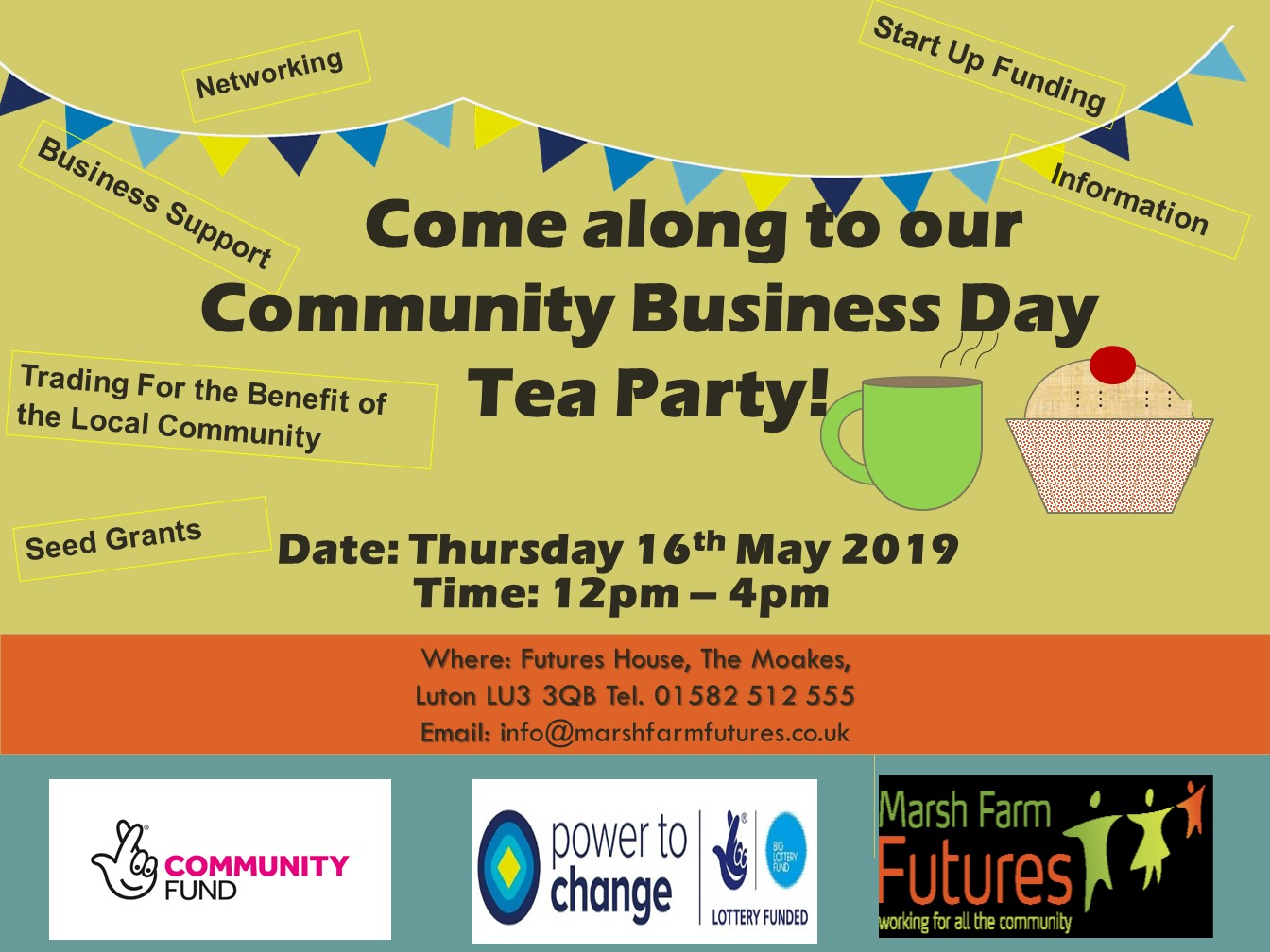 Community Business Day Tea Party Marsh Farm Futures