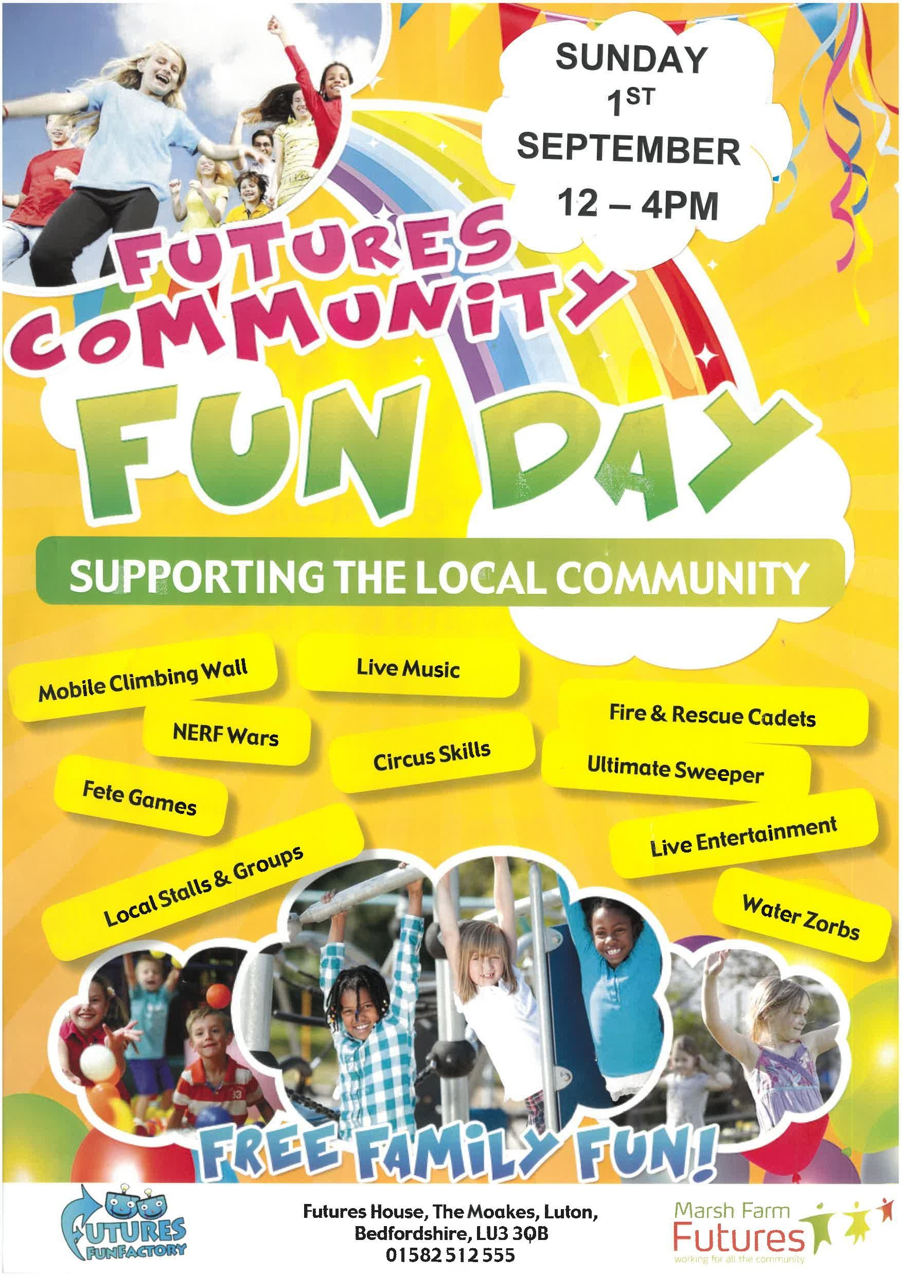 New Date For Futures Community Fun Day 2019 Marsh Farm